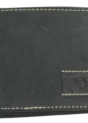 Мужское кожаное портмоне ALWAYS WILD SN992WA2 черный