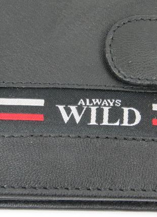 Мужское кожаное портмоне ALWAYS WILD SN992LGV Black
