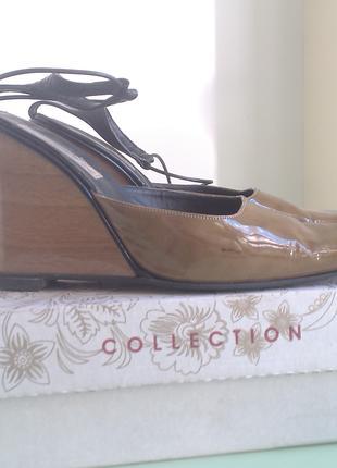 Женские летние туфли, сабо, мюли на каблуке размер 39 - 40