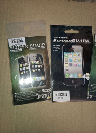 Защитная пленка на экран iphone 2g,3g,3gs,4,4s,5