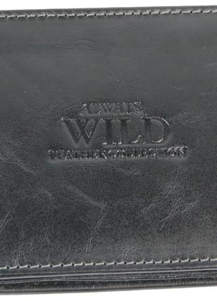 Мужское кожаное портмоне ALWAYS WILD SN992GT черный