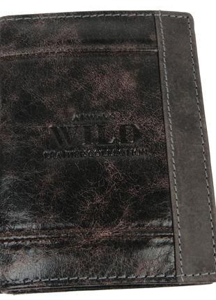 Вертикальное кожаное портмоне ALWAYS WILD SN4DIS Brown MIX