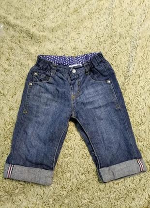 Джинсові штани 2-4 м newborn