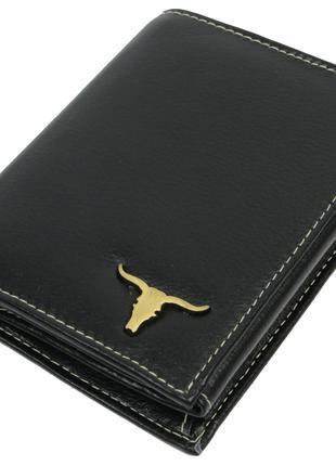 Мужское кожаное портмоне ALWAYS WILD SRM03BAW3 черный