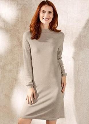 Вязаное платье туника кашемир шерсть