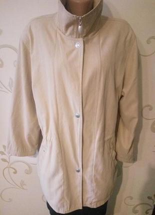Куртка парка ветровка. ткань похожа на замшу . большой размер