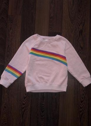 Свитшот , реглан,свитер с радугой next на 4-5 лет