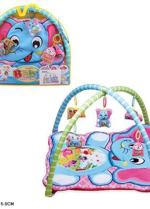 Коврик для малышей с погремушками на дуге 518-25
