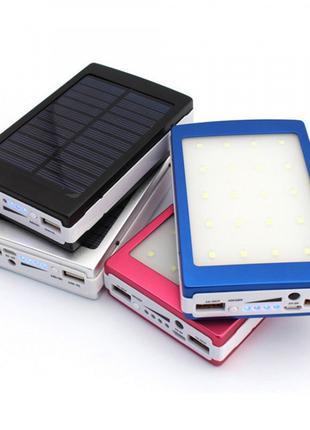 Ower Bank Solar 90000 mAh портативное зарядное с LED лампой
