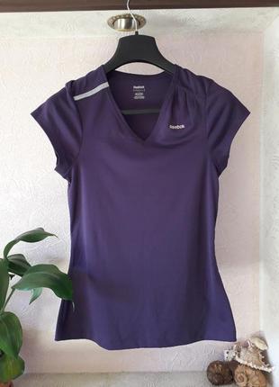 Reebok женская спортивная футболка бег фитнес йога теннис ориг...