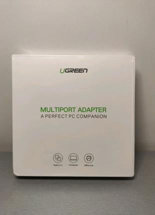 Сетевой адаптер,хаб Ugreen Gigabit LAN 3 х USB 3.0 + RJ45 +по