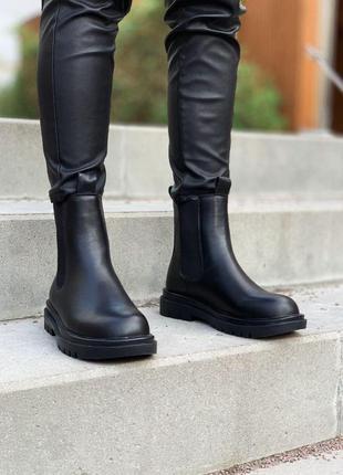 Меховые ботинки bottega veneta chelsea mid женские