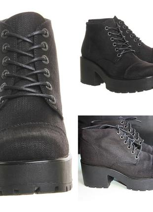 Ботинки vagabond dioon текстильные джинсовые на толстом каблук...