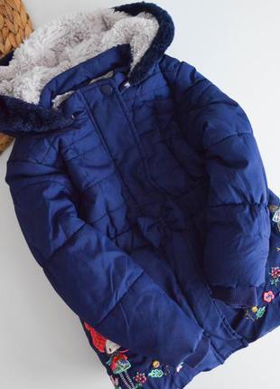 Теплая курточка на 1,5-2г,синтепон и мех.