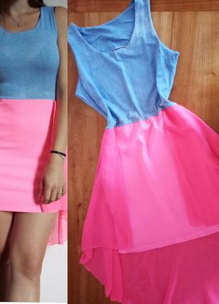 Яскраве плаття/ літнє трикотажне/ платье/ шифон/ летнее