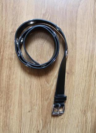 Стильный кожаный ремень/пасок/пояс от дизайнерского бренда mic...