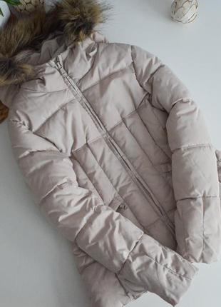 Наша курточка зара на 7-8л,плотный синтепон