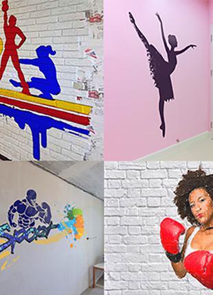 Роспись стен. Художественное оформление дизайна интерьера!