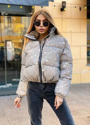 Дутая куртка пуховик демисезонный, куртка пуховик зимняя