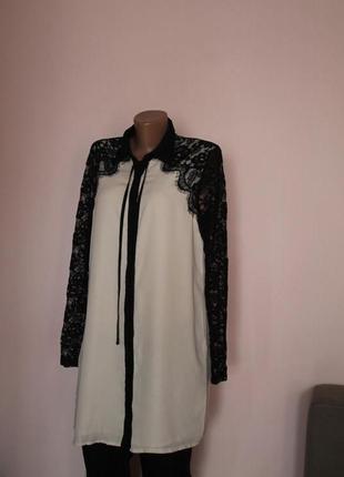 Платье шифон кружево