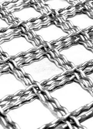 Канилированная (рифлёная) стальная сетка и изделия из неё