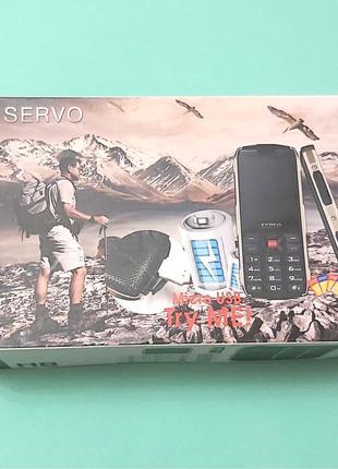Мобильный телефон Servo H8 на 4 sim карты, черный, Повербанк