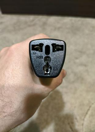 Переходник адаптер 220В в розетку универсальный