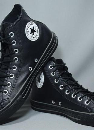 Высокие кеды converse leather hi ботинки мужские женские кожа ...