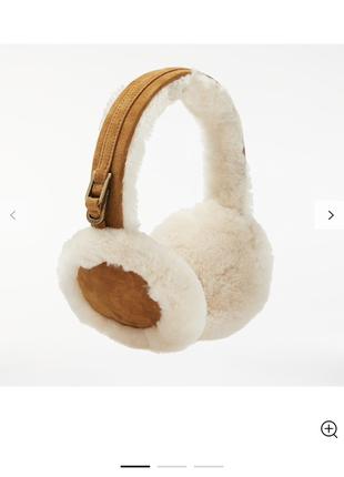 Тёплые наушники ugg шапка утеплитель натуральный мех овчина на...