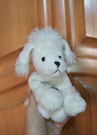 Мягкая игрушка собачка белый пудель