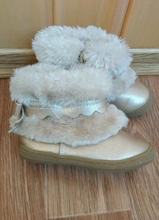 Ботинки сапожки для девочки осень