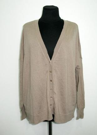 Шерстяной оверсайзный свитер кофта кардиган на зиму осень на п...