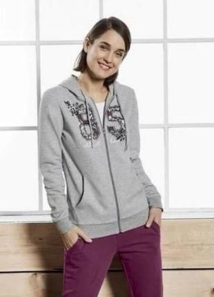 Женская тёплая спортивная кофта толстовка худи с капюшоном esm...