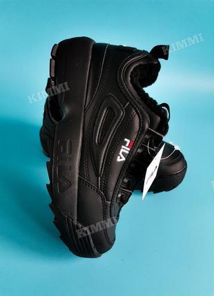 Зимние ❄️крутые женские кроссовки ботинки fila