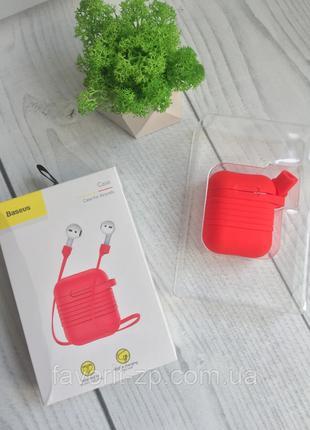 Силиконовый чехол с шнурком Baseus Silicone Case Red для Apple Ai