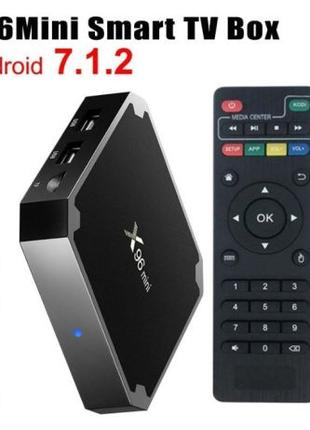 Приставка Смарт ТВ. X96 mini TV Box 2/16 GB, х96 Android 7. Га...