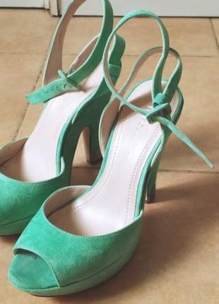 Босоножки туфли с открытым носком стрипы