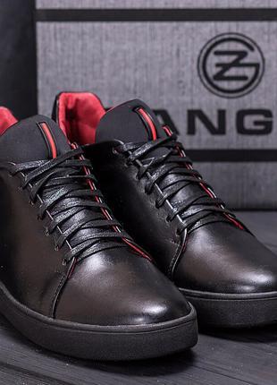 Мужские зимние кожаные ботинки Zangak