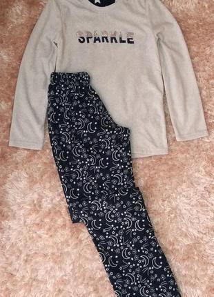 Теплая флисовая пижама или костюм для дома primark, анг. 4-6 р...