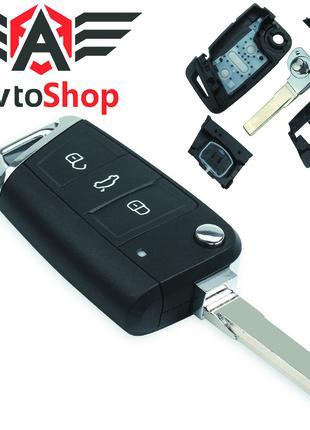 Ключ Volkswagen Golf 7, Tiguan 2, Skoda Octavia, A7, Seat Leon
