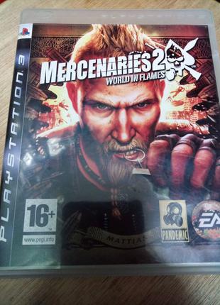 Игра диск Mercenaries 2 Playstation 3 PS3