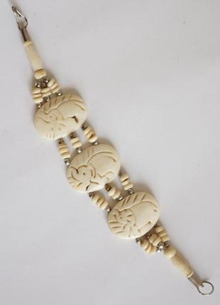 Браслет винтажный слоновая кость натуральная