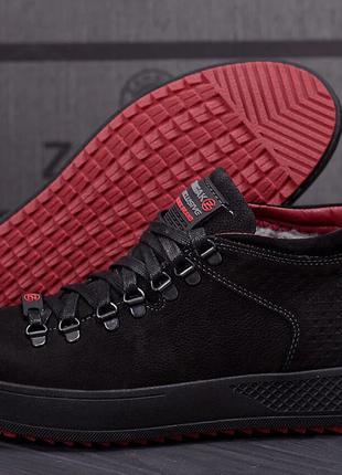 Зимние мужские кожаные ботинки zangak