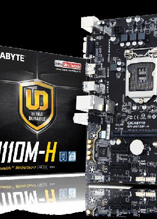 Материнская плата Gigabyte GA-H110M-H. Новая. Гарантия 12 месяцев