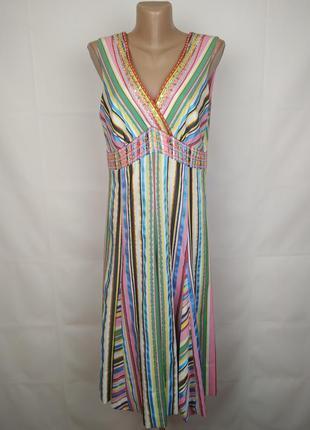 Платье оригинальное разноцветное tommy hilfiger uk 12/40/m