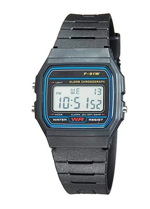 Часы Электронные черный пластик