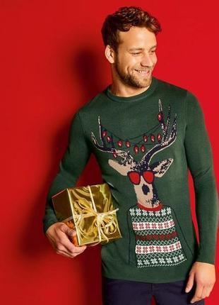 Отличный праздничный свитер м 48 50 euro livergy германия
