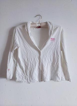Стильная кофта рубашка блузка жатая с вышивкой