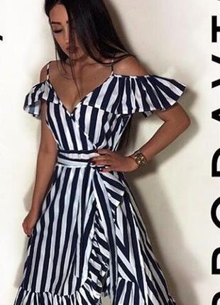 Платье сарафан с воланами