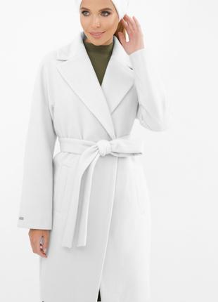 Пальто молоко лиловый